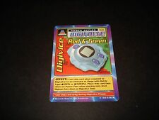 BANDAI DIGIMON CARD ST-61 DIGIVICE RED & GREEN-1ST EDITION-GREAT CONDITION