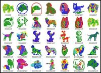 63 Dogs Files Embroidery Digitized Stitches Design Machine