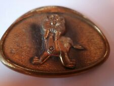 Marine Bank Vintage Walrus Brass Belt Buckle