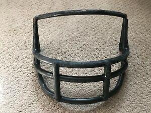 Vtg 1980s Riddell Adult Football Helmet Facemask face guard used OPO Black   G