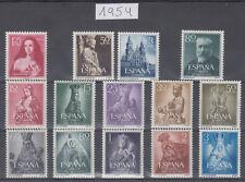 ESPAÑA - AÑO 1954 COMPLETO - SELLOS NUEVOS SIN FIJASELLOS - GOMA ORIGINAL - LUJO