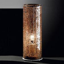 Design Tischleuchte Nachtkommode Glaslampe Tischlampe Crashglas Crashglaslampe