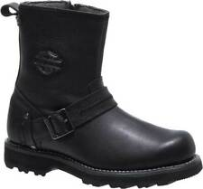 Harley Davidson RR-Richton Mens Leather Biker Riding Zip-Up Boots