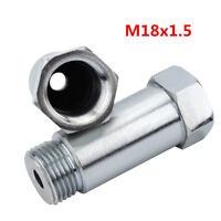 M18x1.5 O2 Straight Oxygen Sensor Zinc Plated Steel Extender Spacer CEL Fix 2x