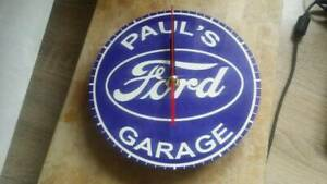 FORD PERSONALISED CLOCK. GREAT GIFT FOR MECHANIC OR FORD FAN