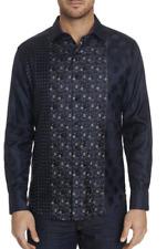 Robert Graham Concordia L//S Plaid Print Woven Shirt Classic Fit Black Large