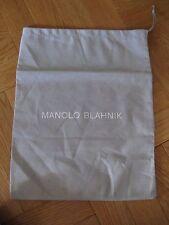 MANOLO BLAHNIK: Gray Cotton Shoe Dust Bag NEW