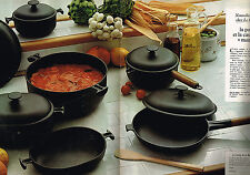 PUBLICITE ADVERTISING 084  1977   LE CREUSET  poele & casserole MAMA ( 2 pages)