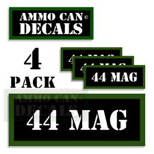 "44 MAG Ammo Can LABELS STICKERS DECALS for Ammunition Cases 3""x1.15"" 4pack"