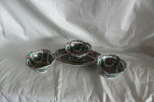 Vintage Asian Rice/Soup Bowl with Tray