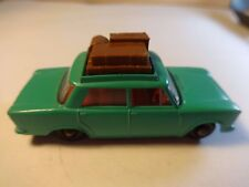 Matchbox #56 Turquoise Green Fiat 1500 1965 w/ luggage on roof - Loose & Nice