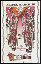 Mint Ronnie Wood Bo Diddley 1988 Bill Graham Fillmore Poster