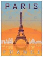 Travel tourism paris ville france tour eiffel arc de triomphe print BMP11430