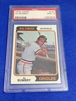 1974 Topps Al Bumbry Baltimore Orioles #137 PSA 9 MINT