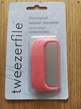 BRAND NEW & SEALED TWEEZERFILE - THE ORIGINAL TWEEZER SHARPENER - CORAL