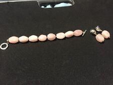 Ralph Lauren Pink Rose Quartz Bracelet Earrings Set