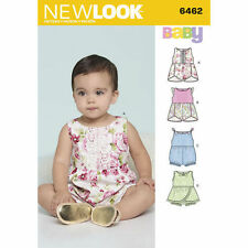 New Look Sewing Pattern  size NB,S,M L  Babies Romper with crossover skirt 6462