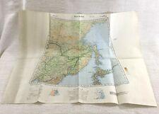 1939 WW2 Military Map of Manchuria China Japan Original War Office Issue RARE