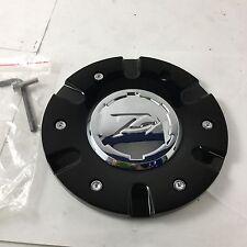 """Zinik Z9 Sabini Wheel Center Hub Cap Black w/ Chrome Center CAP-Z090 6.75"""" ZK43"""