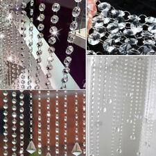 2stk Kristall Kronleuchter Glasperlen Kette Swag Prismen Lampe Octagon Bead 9.5M