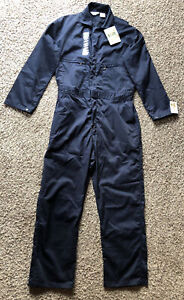 NEW WITH TAGS, KEY COVERALL BLUE ZIP- UP WORK SHOP AUTO  SIZE 42 R