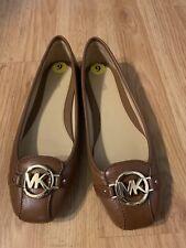 Michael Kors Woman Fulton Moc Slip On Moccasins Leather Brown Size 9