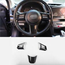 For Subaru outback Legacy 2010-2014 carbon fiber Steering wheel button trim 3pcs