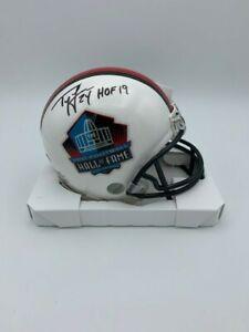 Ty Law Signed Hall of Fame Mini Helmet New England Patroit Legend COA Hologram