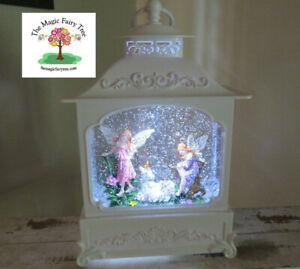 White LED unicorn and fairy glitter lantern waterball snow globe light night