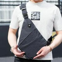 Men Waterproof Personal Shoulder Sling Bag Travel Anti Theft Chest Crossbody Bag