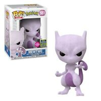 Funko Pokemon Mewtwo Flocked 2020 #581 SDCC Shared Exclusive **In Hand**