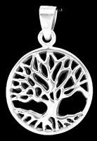 Keltischer Lebensbaum Baum Des Lebens Anhänger Silber Gothic Schmuck - NEU