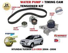 FOR HYUNDAI TUCSON 2.0 CRDI 4X4 2004-2006 TIMING CAM BELT KIT + WATER PUMP SET