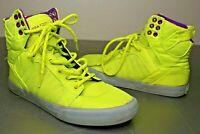 Woman's Supra Muska 001 High Top Skate Shoes Sneakers Yellow Purple Size 7