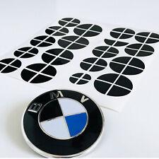 70x BMW Emblem Aufkleber - schwarz glänzend - Felge Logo 1 2 3 4 5 6 M X
