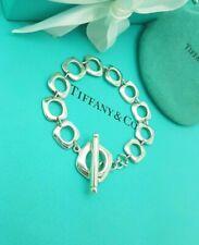 Tiffany & Co. RARE Cushion Toggle Bracelet 7.5 Inches Bracelet Full UK Hallmark