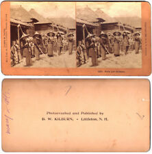 "Vintage ""Farm Life in Japan"" STEREOSCOPE CARD (1901)  B.W. KILBURN"