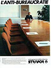 Publicité Advertising 037    mobilier de bureau aménagement Strafor