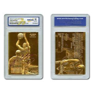 1996-97 KOBE BRYANT Fleer 23K Gold ROOKIE Card Purple Signature Series GEM-MT 10