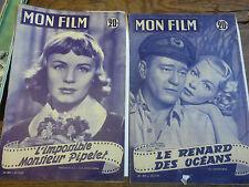 Lot de 2 revues Mon film l'impossible monsieur Pipelet le renard des océans