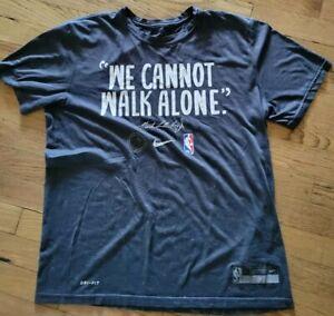 Nike Martin Luther King Jr. MLK NBA LOGO dry-fit tee shirt t-shirt sz Large L $$