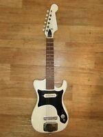 Kinder E-Gitarre vintage 70er Jahre White