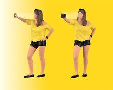 Viessmann 1551 échelle H0 FEMME TIRE Selfie,avec flash # Neuf Emballage Scellé #