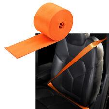 Seat Belt Webbing Polyester Seat Lap Retractable Nylon Safety Strap 3.5M orange