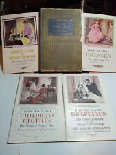 Vintage Singer Sewing Manuals, Four 1930's Collectible