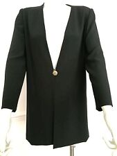 VINTAGE FRANK USHER 1980's black evening jacket - size 10 label