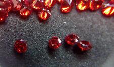 5mm rojo granate CZ Redondo cortar piedra suelta AAAAA Lote de 10 Piedras