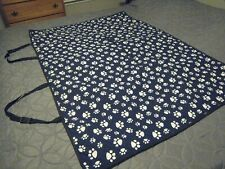 Paw Print back seat cover for xs, s, m dogs