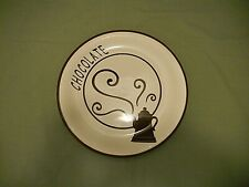 """For The Chocoholic & Coffee Lover!! Decorative 8.25"""" Plate Coffee Pot/Chocolate"""