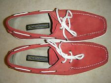 MENS STACY ADAMS RED SUEDE SHOES SEACOAST 10.5M RUBBER SOLES WORN ONCE